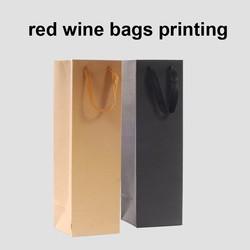 2015 luxury customized red wine kraft paper packaging gift bags