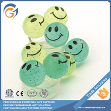 New Style Smile Transparent Bouncing Ball with Gold Dust
