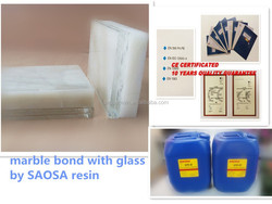 sunlight cured glue for marble bond with glass