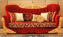 Luxury European Style Italian Wooden Classic Fabric Sofa