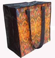 pp woven shopping bag with zipper