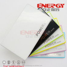 Credit card shape super slim 2200mah power bank with mirro face for customised full logo printing