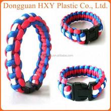 HXY hot sale Military Survival Paracord Bracelet,Outdoor colorful Bracelets Jewelry