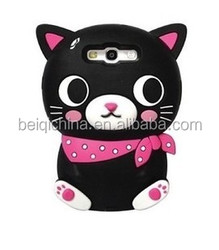 Cheapest cute Cat shape cover silicone phone case for iphone