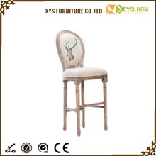 The Style Of French Simple wooden bedroom chair