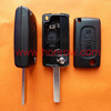 Best Quality Peugoet flip remote key shell with 307 key blade 2 button with battery place
