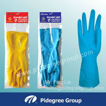 Extra long household rubber cleaning gloves /latex household gloves