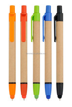 recycled touch stylus screen paper ball pen