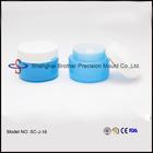 Frasco de plástico com tampa de rosca rodada recipiente de plástico com tampa