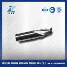 New design various dia 5 flute sqr coated tialn carbide finisher end mills made in China