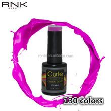most popular soak off RNK Q series nail polish natural healthy uv gel polish for lady fashion choices