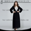 MD10009 Wholesale Muslim Islamic plus size dress long sleeve abaya gamis baju busana muslimah black embroidery dress