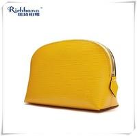 Richbana custom ladies small travel bulk pu leather cosmetic bag for lady