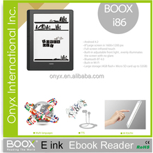 ebook reader 8 inch e-ink monitor android 4.0 wifi multi-language support