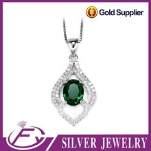 China manufacture AAA color stone pave cz sterling silver pendant bezel