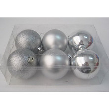 Silver Shiny/Matte/glitter family personalized christmas ornaments