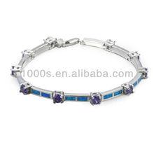 Novelty 925 silver opal bracelet opal jewelry