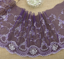 purple lace fabric, embroidery lace material