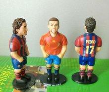 cheap football star pop football player/plastic anime action figure