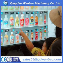 coin operated Automatic snack and cold drink vending machine with LCD display