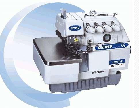 Gemsy alta velocidad de 5 hilo overlock máquina de coser