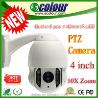 Bessky BE-SDA70 High Quality 10X Zoom 4 inch speed dome camera 700TVL mini zoom camera Pan range 360