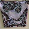 Gold Wrap Shawl Satin Head Scarf Paisley Ties