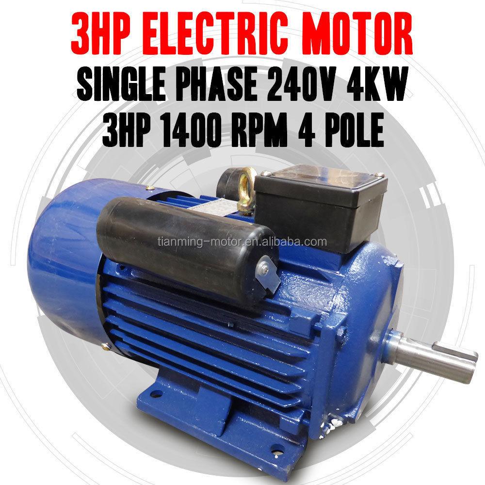 Wholesale New Single Phase 240v 5hp Electric Motor Single