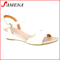Cute sandals for girls new collection lady pu wedge shoes