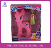 2014 Hot Sell Small Plastic Toys My Lovely Yellow and Pink Horse Pony