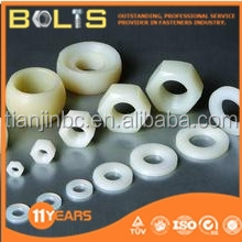 nylon DIN934 white hex nut
