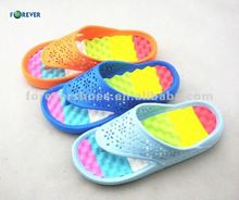 rubber wedges sandals girls and women wearing with foot massage flip-flops