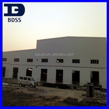 Large Span Double Slope Construction Warehouse Pre Engineered Steel house