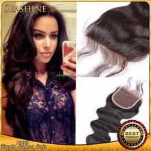 Brazilian Human Hair Sew In Weave Human Hair Extension Top Lace Closure Virgin Brazilian Hair Extension