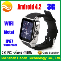 Factory OEM wholesale Smart Watch!! Android Watch Phones with GPS 3g Wifi Waterproof IP67 Smartwatch 512m+4g rom, Dual core CPU