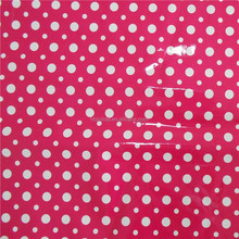 JINLIDA The surface of the lovely and beautiful bright little pink dot design PVC leather