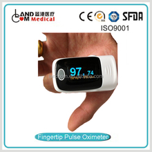 Finger pulse oximeter with rotatable display CE Approved