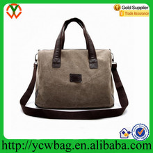 Shenzhen Carry On Bag Travel Luggage Brown Canvas Sports Duffel Bag