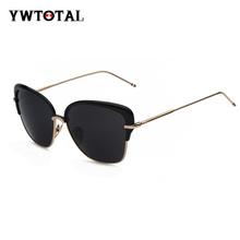 moda rivestimento lente a specchio occhiali da sole donne occhiali telaio in lega