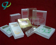 new style cardboard gift printing boxes with pvc window with high quality