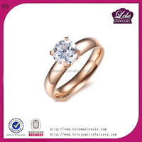 Best selling jewelry fashion rings in stainless steel class ring with big stone ring designs for women