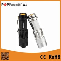 POPPAS-X1 Gift Mini Telscopic USA XPE R2 mini led flashlight with pocket clip