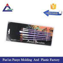 Free sample manufacturer of flat shape nylon synthetic artist brush in stock