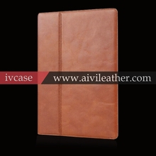 Ultra Slim Portfolio Folding Premium Genuine Leather Case Carrying Sleeve for Apple iPad Air Real Leather Flip Case pen holder