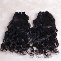 Natural Color #1B Unprocessed Human Hair, 3 packs 20inch top quality 100% malaysian natural wave virgin hair