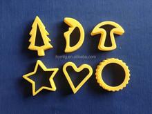6pcs christmas plastic cookie cutter set