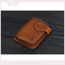2015 latest design hand made simple ladies leather purse