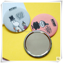 Custom all kinds of cartoon pocket mirror,wholesale cheap compact mirror with logo,high quality tin cosmetic mirror