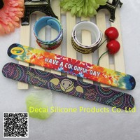 snap bracelet slap bracelet with ruler and Cartoon characters on bracelet
