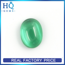 Synthetic Emerald Green Nano Crystal Cabochon